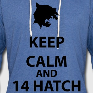Keep Calm and 14 Hatch T-Shirts - Unisex Lightweight Terry Hoodie