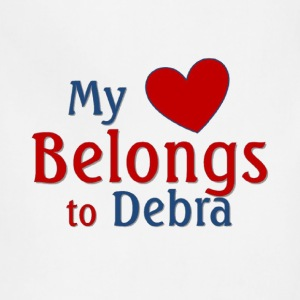 Heart belongs to Debra - Adjustable Apron