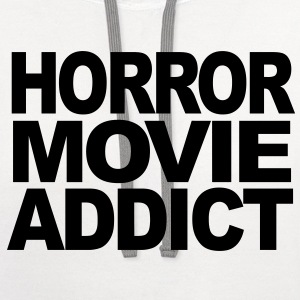 Horror Movie Addict t-shirt T-Shirts - Contrast Hoodie