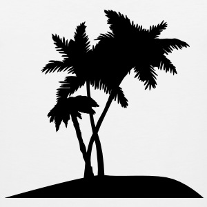 palm trees darr T-Shirts - Men's Premium Tank