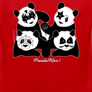 PANDA KISS! T-Shirts - Men's Premium Tank