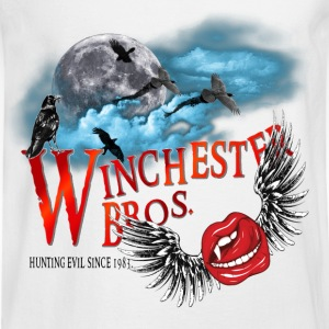 Winchester Bros Hunting Evil Since 1983 Vamps Kiss T-Shirts - Men's Long Sleeve T-Shirt