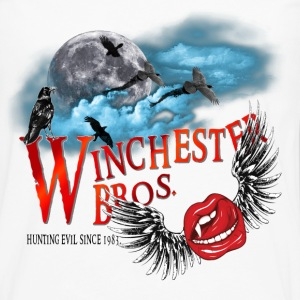 Winchester Bros Hunting Evil Since 1983 Vamps Kiss T-Shirts - Men's Premium Long Sleeve T-Shirt