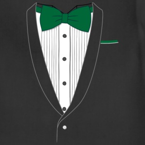 Tuxedo T Shirt Classic Green Tie - Adjustable Apron