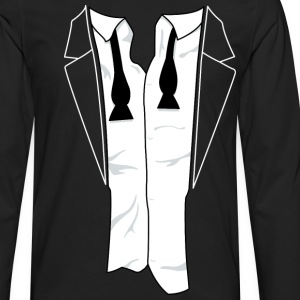 Unbuttoned Tuxedo T Shirt - Men's Premium Long Sleeve T-Shirt