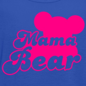 MAMA bear (new) with teddy bear shape  T-Shirts - Women's Flowy Tank Top by Bella