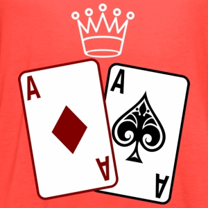 Poker Cards wit Crown T-Shirts - Women's Flowy Tank Top by Bella