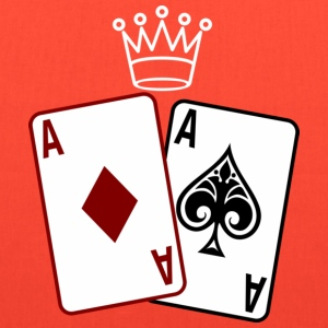 Poker Cards wit Crown T-Shirts - Tote Bag