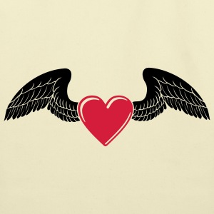 Winged Valentine's Heart 1_2c T-Shirts - Eco-Friendly Cotton Tote
