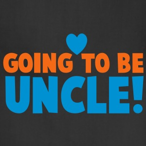 GOING TO BE UNCLE with love heart newborn uncle's shirt T-Shirts - Adjustable Apron