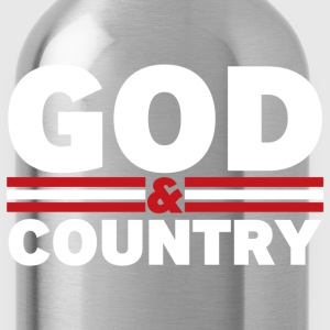God and Country - Water Bottle