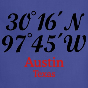 Austin, Texas Coordinates T-Shirt - Adjustable Apron