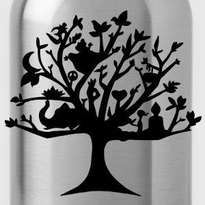 Yoga tree of life - Water Bottle