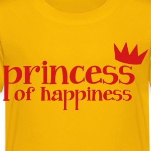 Princess of Happiness with cute little crown red Kids' Shirts - Toddler Premium T-Shirt