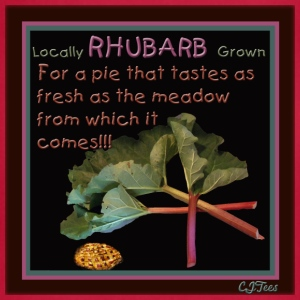 Rhubarb! For a pie that tastes as fresh as the meadow from which it comes! - Adjustable Apron