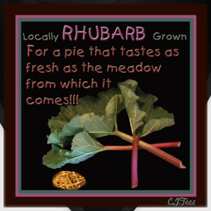 Rhubarb! For a pie that tastes as fresh as the meadow from which it comes! - Bandana