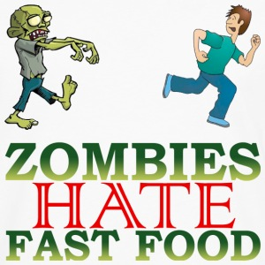 zombie hate fast food - Men's Premium Long Sleeve T-Shirt