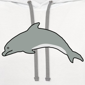 Dolphin Plus Size - Contrast Hoodie