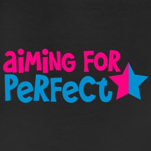 AIMING FOR PERFECT in funky  and blue font with a star  Kids' Shirts - Leggings
