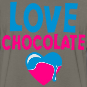 love chocolate with cute melty heat tall Kids' Shirts - Men's Premium Long Sleeve T-Shirt