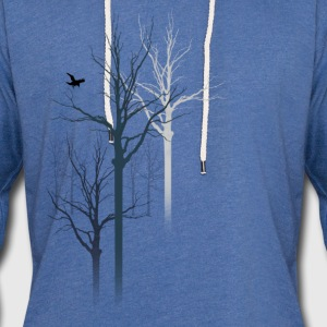 TREES 3 T-Shirts - Unisex Lightweight Terry Hoodie