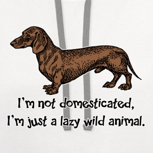 Just a Lazy Wild dog T-Shirts - Contrast Hoodie
