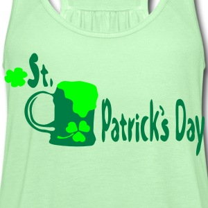 Green beer shamrock st.Patrick's day Men's 3XL & 4XL Shirt - Women's Flowy Tank Top by Bella