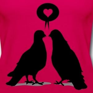 Love saying Doves - Two Valentine Birds 2c Kids' Shirts - Women's Premium Tank Top