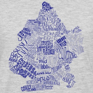 Brooklyn Neighborhoods T-shirt - Men's Premium Long Sleeve T-Shirt