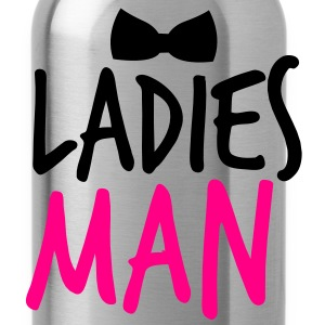LADIES MAN with a black bow tie event T-Shirts - Water Bottle