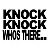 Knock Knock who's there t-shirt  T-Shirts - Men's Premium T-Shirt