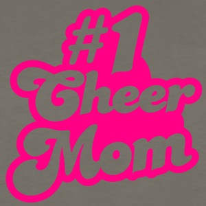 #1 cheer mom number one T-Shirts - Men's Premium Long Sleeve T-Shirt