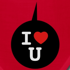 I heart U - Speech bubble 3c T-Shirts - Bandana
