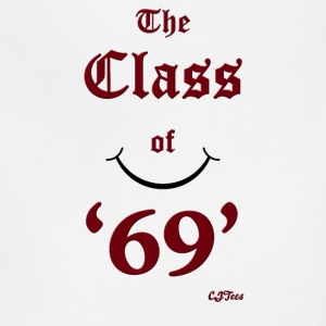The Class of '69' maroon - cheaper! - Adjustable Apron