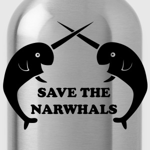 Save the Narwhals T-Shirts - Water Bottle