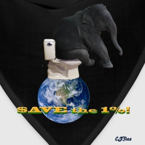 Save the 1% - Elephant On Top the World - Bandana