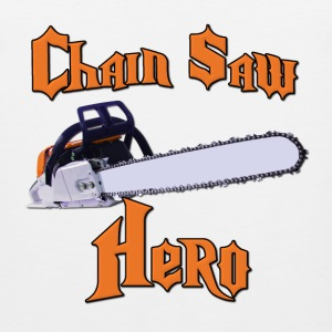 Chain Saw Hero Chainsaw T-Shirts - Men's Premium Tank