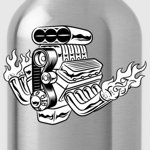 Hot Rod HD Design T-Shirts - Water Bottle
