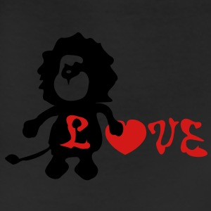 Lion &b love heart Men's Heavyweight T-Shirt - Leggings