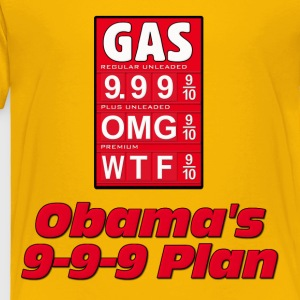 Anti Obama: Obama's 999 Plan Gas Prices Kids' Shirts - Toddler Premium T-Shirt