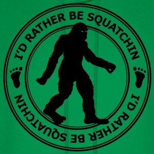 I'd Rather Be Squatchin' Patch (White) - Men's - Men's Hoodie