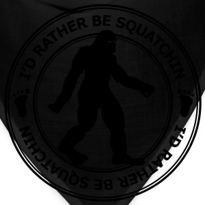I'd Rather Be Squatchin' Patch (White) - Men's - Bandana