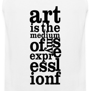 Art is My Medium - Men's Premium Tank