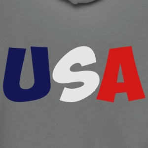 USA T-Shirt - Unisex Fleece Zip Hoodie by American Apparel