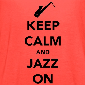 Keep Calm and Jazz On - Sax T-Shirts - Women's Flowy Tank Top by Bella