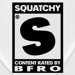 Rated S for Squatchy (Black & White) - Men's - Bandana