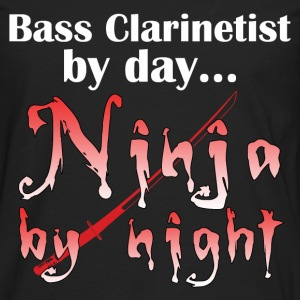 Bass Clarinet Ninja - Men's Premium Long Sleeve T-Shirt