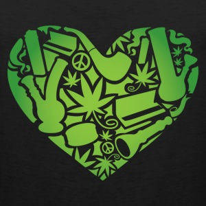 Pot Heart T-Shirts - Men's Premium Tank