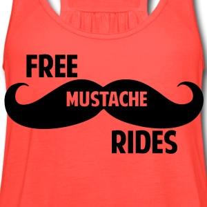 Free Mustache Rides T-Shirts - Women's Flowy Tank Top by Bella