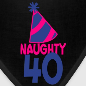naughty 40 forty with birthday cute top hat  T-Shirts - Bandana